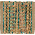 Jarvis Teal Blue Jute-Blend Rug Swatch.