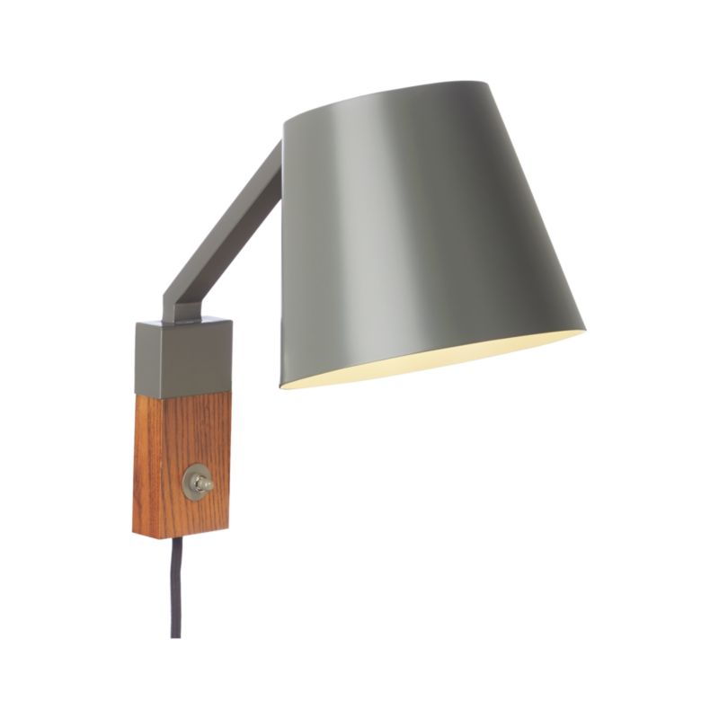 Jax Grey Sconce Crate and Barrel