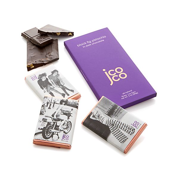Jcoco Black Fig Pistachio Chocolate Bar