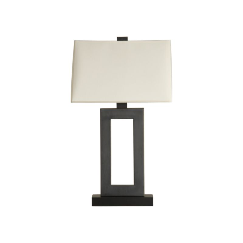 Jerry Antiqued Bronze Table Lamp Crate And Barrel