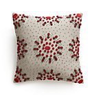 Jewel Berry Pillow with Feather-Down Insert.