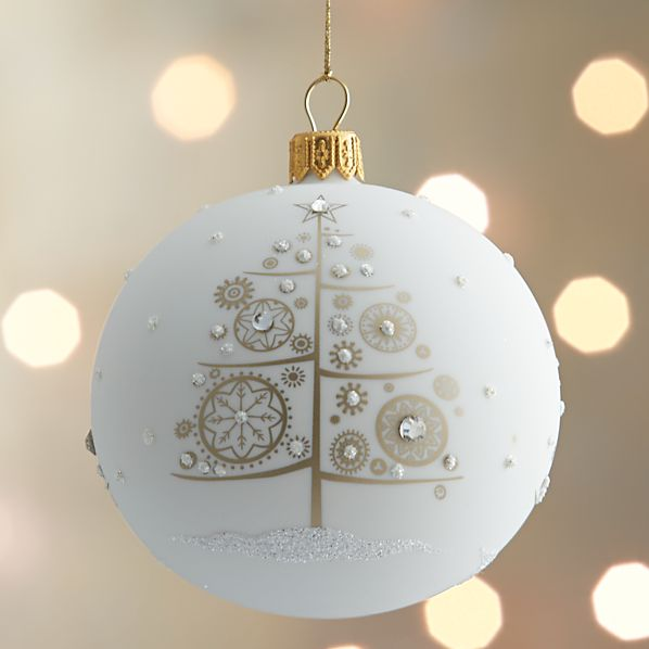 Jewel Encrusted Tree Ball Ornament