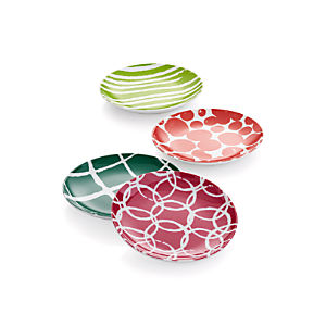 Jingle Appetizer Plates Set of Four