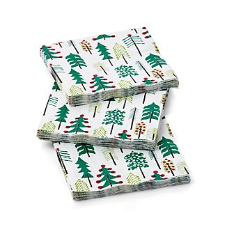 Set of 20 Jingle Paper Beverage Napkins