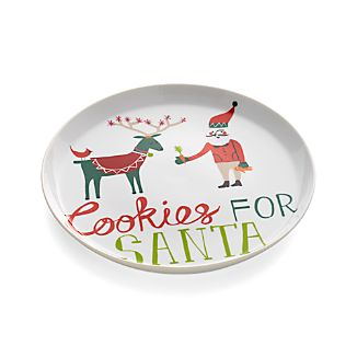 Jingle Cookies for Santa Plate