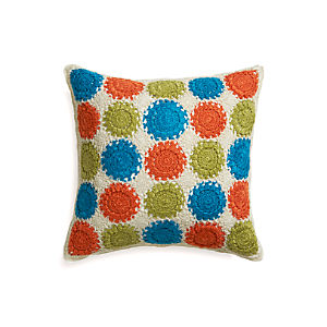 "Jory 23"" Pillow with Down-Alternative Insert"