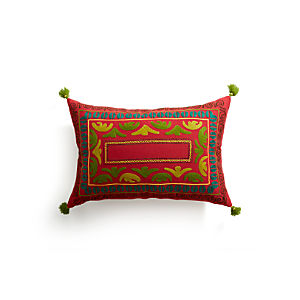 "Jubilee 24""x16"" Pillow with Feather-Down Insert"