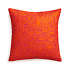 Julian Orange Pillow with Down-Alternative Insert.