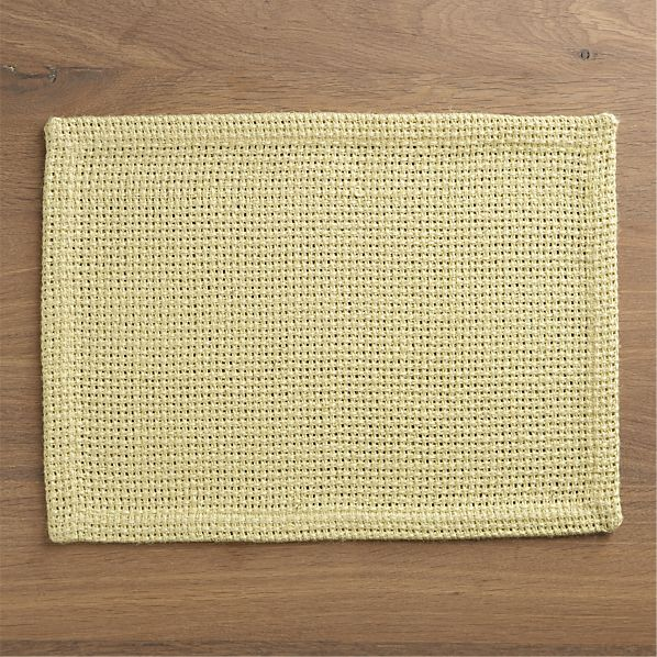 Juto Yellow Placemat