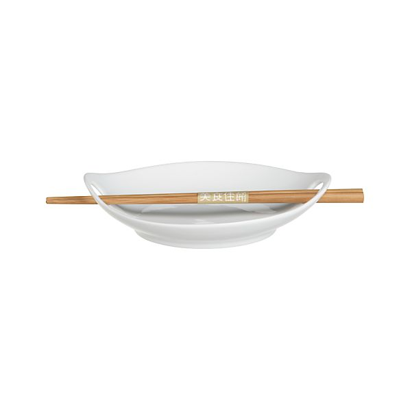 "Kai 7.25"" Individual Dish with Chopsticks"