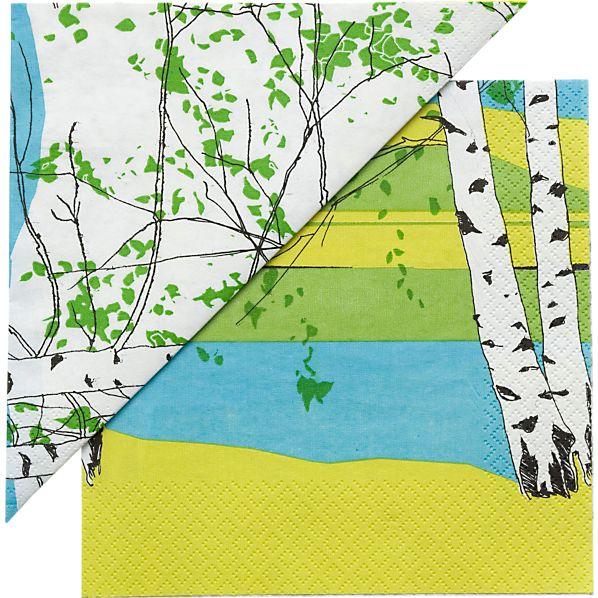 "Set of 20 Marimekko Kaiku Paper 13"" Napkins"