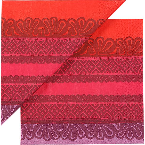 "Set of 20 Marimekko Kaspaikka Paper 6.5"" Napkins"