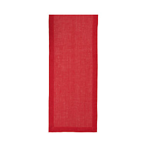 Kelsey Red Linen Runner