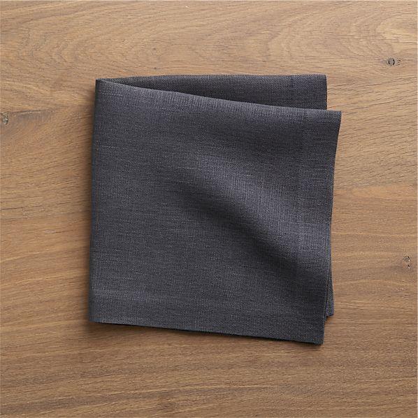 Kelsey Graphite Linen Napkin