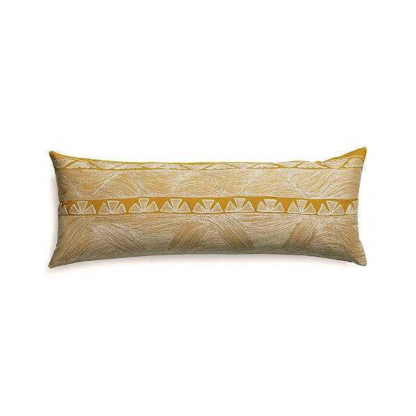 "Kentra 36""x14"" Pillow with Feather-Down Insert"