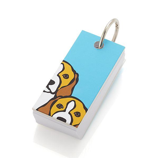 Beagle Notepad Keyring