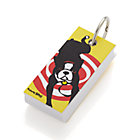 Boston Terrier Notepad Keyring.