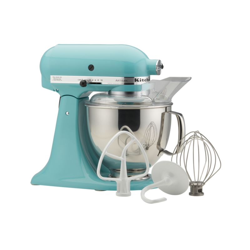 kitchenaid artisan aqua sky stand mixer crate and barrel. Black Bedroom Furniture Sets. Home Design Ideas