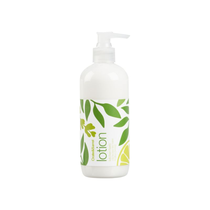 Water-based herbal lotion from Caldrea. Essential oils of spearmint, basil and lavender get a citrus kick from lemon. Biodegradable, plant-derived ingredients promise a gentle touch. Contains healing aloe vera, and moisturizing shea butter and glycerine. A small squirt of this concentrated, biodegradable formulation goes a long way.<br /><br /><NEWTAG/><ul><li>Plant-derived ingredients</li><li>Recyclable PET bottle</li><li>Not tested on animals</li><li>Made in USA</li></ul>