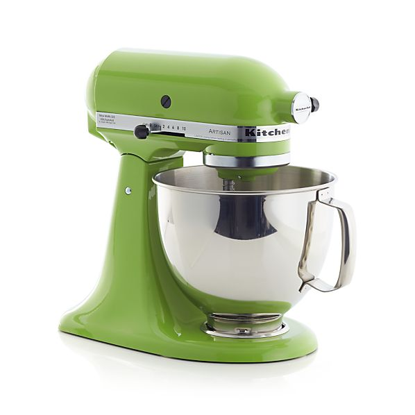 Kitchenaid 174 artisan green apple stand mixer crate and