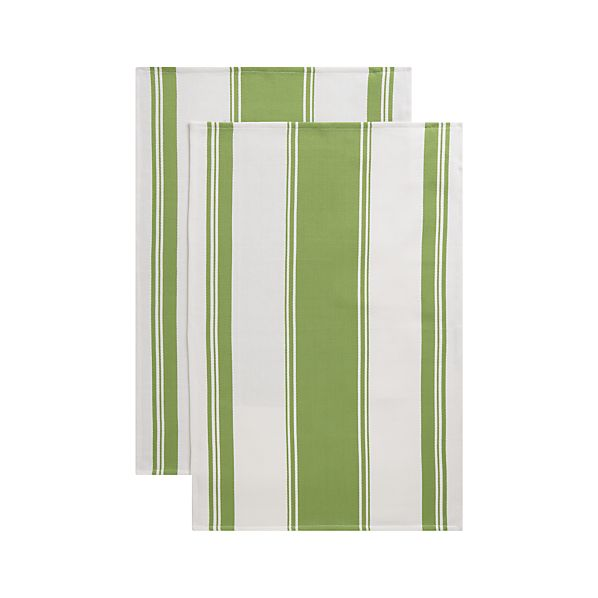 Kitchenette Green Dishtowels Set of Two