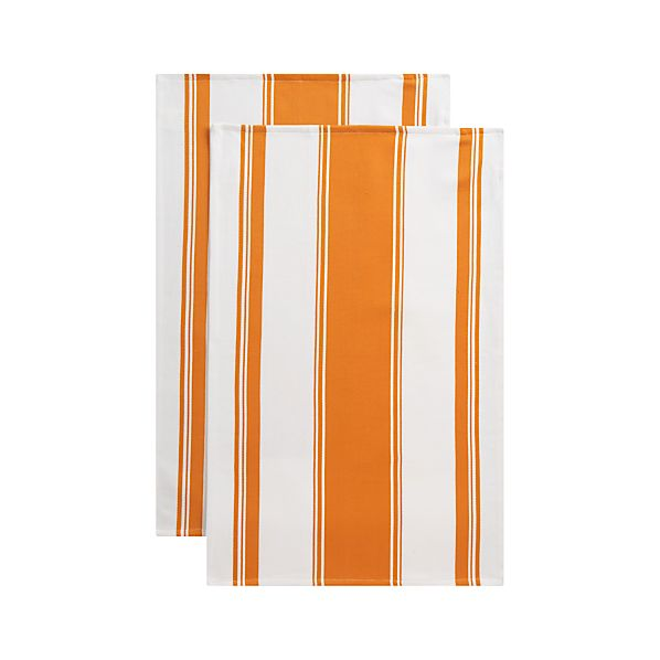 Set of 2 Kitchenette Orange Dishtowels