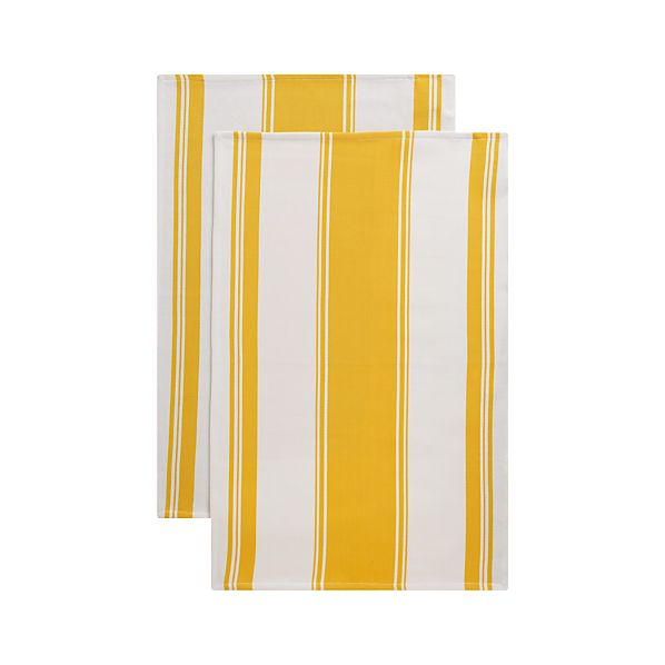 Set of 2 Kitchenette Yellow Dishtowels