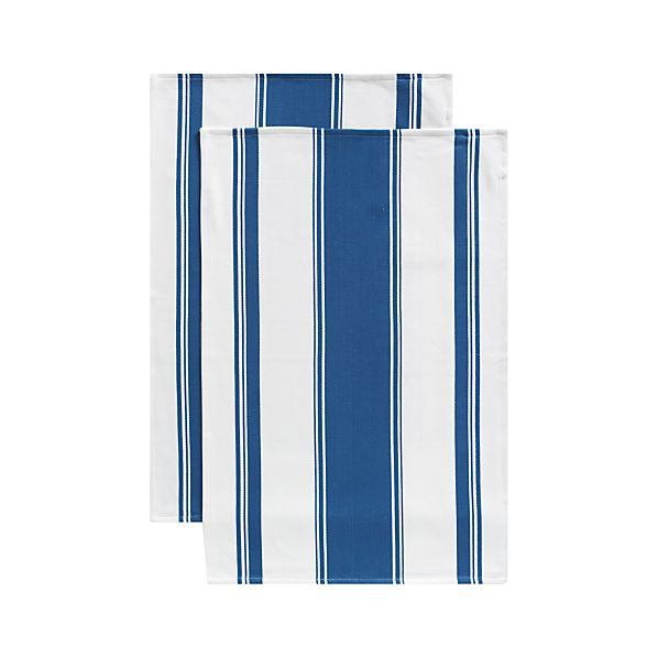 Set of 2 Kitchenette Indigo Dishtowels