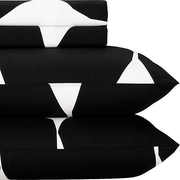 Marimekko Kivet Black Queen Sheet Set