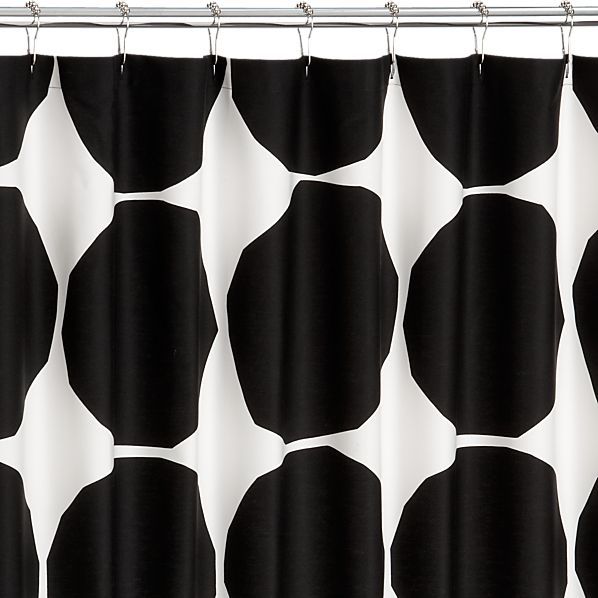 Marimekko Kivet Black Shower Curtain