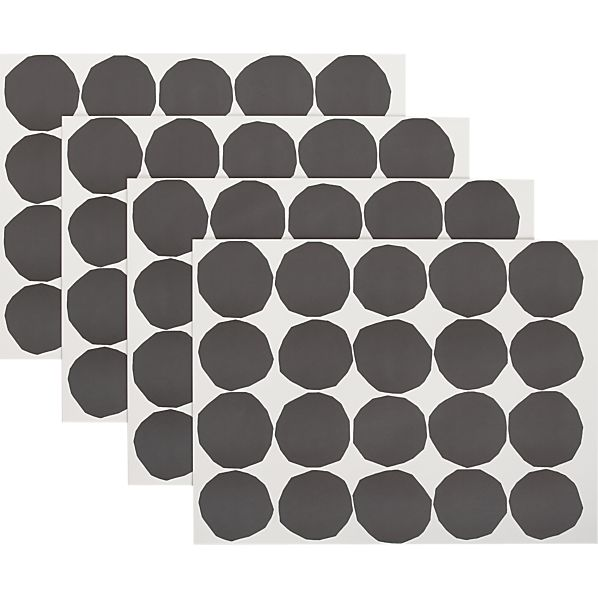 Set of 24 Marimekko Kivet Black and White Paper Placemats