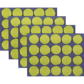 Marimekko Kivet Green and Blue Paper Placemats Set of 24