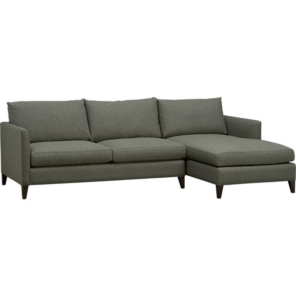 klyne ii 2 piece sectional sofa crate and barrel