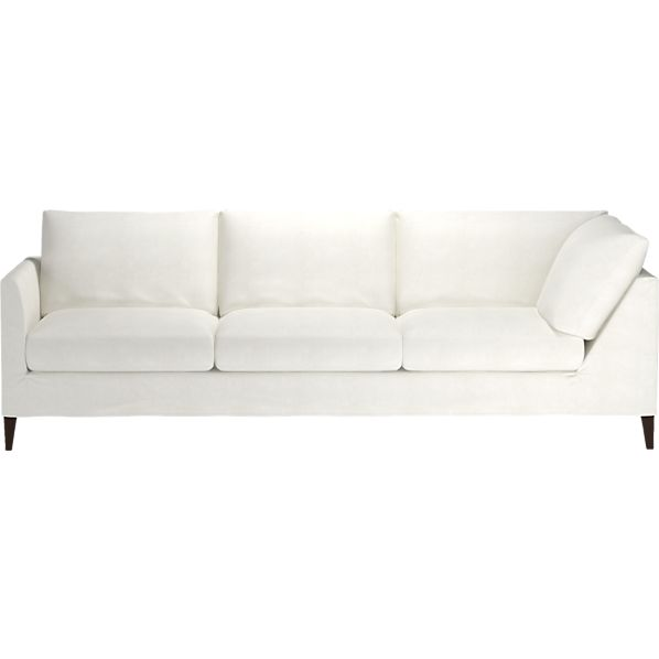 Klyne Slipcovered Left Arm Sectional Corner Sofa