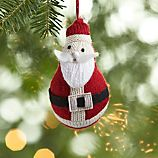 Knit Bubble Santa Ornament