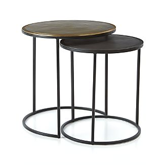 Knurl Accent Tables Set of Two
