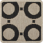 Koen Circles Indoor-Outdoor Rug Swatch.