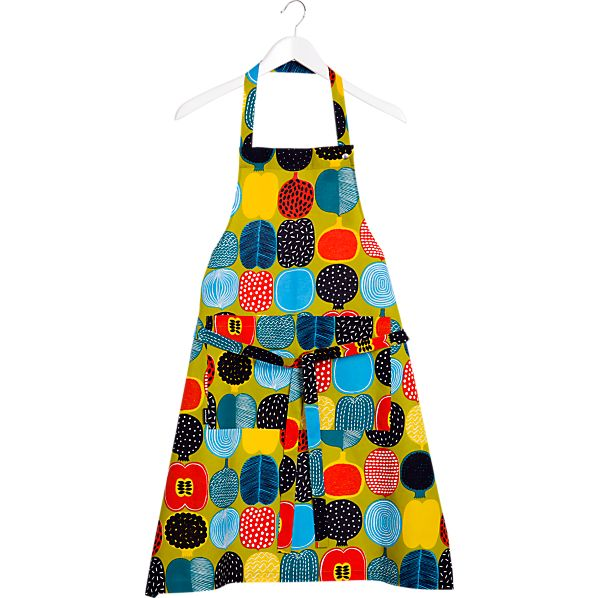 Marimekko Kompotti Green and Multi Apron