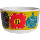 Marimekko Kompotti Green and Multi Bowl.