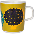 Marimekko Kompotti Green and Multi Mug.8 oz.