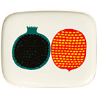 Marimekko Kompotti Multi and White Rectangular Plate.