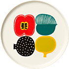 Marimekko Kompotti Multi and White Plate.