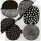 "Set of 20 Marimekko Kompotti Black and White Paper Napkins. 6.5"" sq."