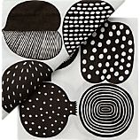 "Marimekko Kompotti White and Black Paper 6.5"" Napkins Set of 20"