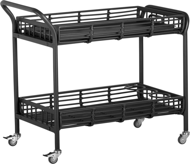 Kruger Black Bar Cart