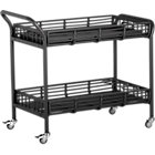 Kruger Black Bar Cart.