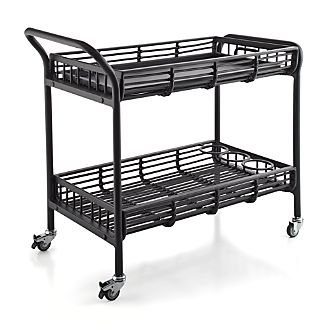 Kruger Black Bar Cart