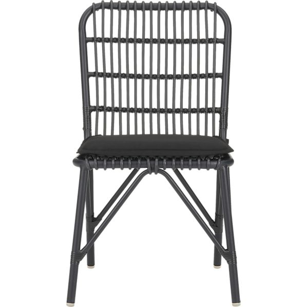 Kruger black dining chair with sunbrella 174 black cushion