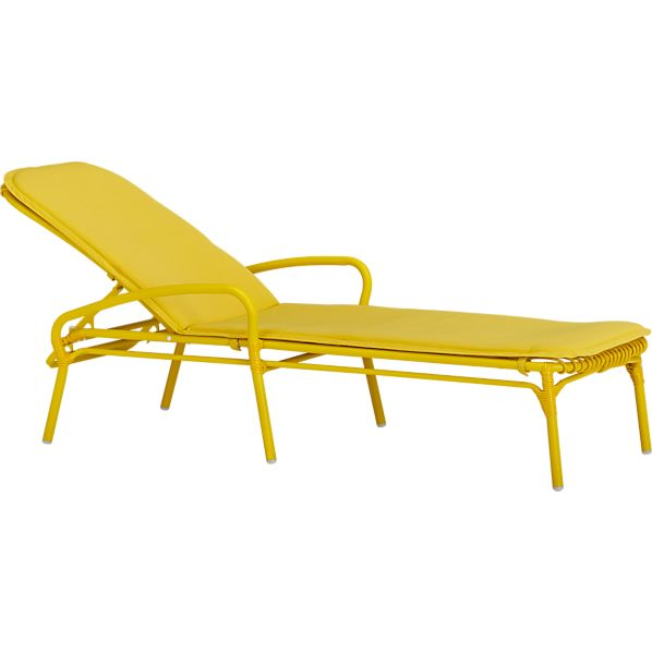 Kruger Sulfur Chaise Lounge Chair with Sunbrella® Sulfur Cushion
