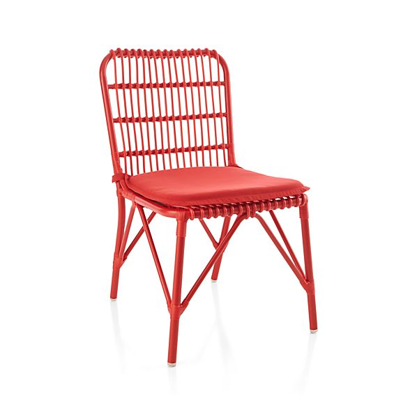 Kruger Ribbon Red Dining Chair with Sunbrella 174 Ribbon Red  : kruger ribbon red dining chair with sunbrella ribbon red cushion from crateandbarrel.com size 598 x 598 jpeg 29kB